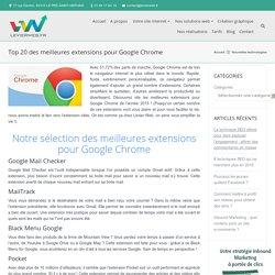 Top 20 des meilleures extensions pour Google Chrome
