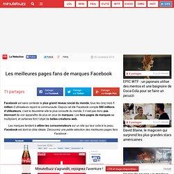 Les meilleures pages fans de marques Facebook