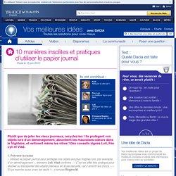10 manières insolites et pratiques d'utiliser le papier journal
