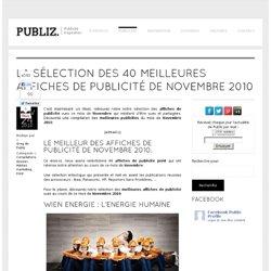 La sélection des 40 meilleures affiches de publicité de Novembre 2010