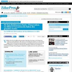 Les meilleures interventions de Ken Robinson en vidéo - Actu sur Educpros