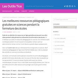 Ressources pédagogiques gratuites en sciences