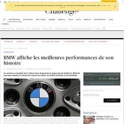BMW affiche les meilleures performances de son histoire