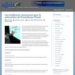 Ressources pour le préscolaire de Promethean