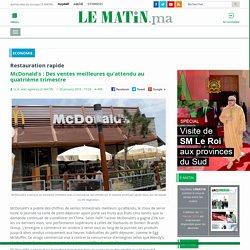 McDonald's: Des ventes meilleures qu'attendu au quatrième trimestre