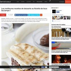 Les meilleures recettes de desserts au Nutella de tous les temps !