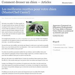 Les meilleures recettes pour votre chien (MasterChef Canin!)