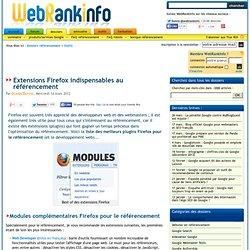 Les meilleures extensions Firefox pour le référencement