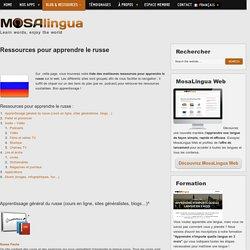 Les meilleures ressources pour apprendre le russe (vidéos, jeux,podcasts, etc.)