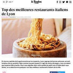 Top des meilleures restaurants italiens de Lyon