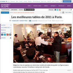 Sortir à Paris : Les meilleures tables de 2011 à Paris
