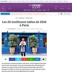 Les 20 meilleures tables de 2016 à Paris