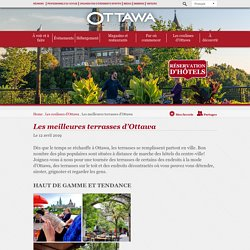 Les meilleures terrasses d'Ottawa - Tourisme Ottawa