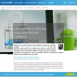 Top 5 des meilleurs antivirus sur Android
