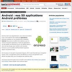 Les meilleurs applications Android gratuites