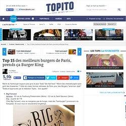 Top 10 des meilleurs hamburgers de Paris et bonnes adresses restaurants pour manger un bon burger