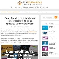 Les meilleurs constructeurs de page gratuits pour WordPress