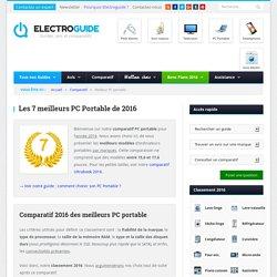 Les 7 meilleurs PC Portable 2016