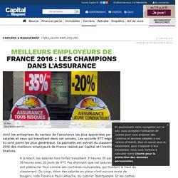 Meilleurs employeurs de France 2016 : les champions dans l'assurance