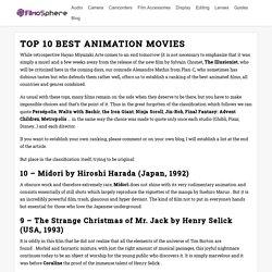 Top 10 des Meilleurs Films d'Animation