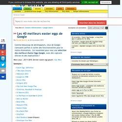 Les meilleurs Easter Eggs Google : fonctions cachées amusantes