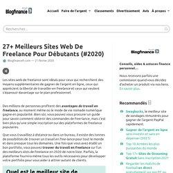 +27 Meilleurs sites web de freelance pour débutants (#2020)