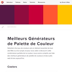 Meilleurs Générateurs de Palette de Couleur — Codes Couleur HTML