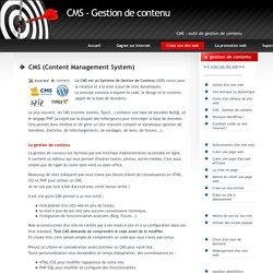Les meilleurs CMS - outil gestion de contenu