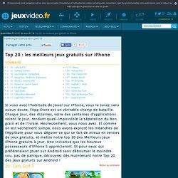 Top 20 : les meilleurs jeux gratuits sur iPhone