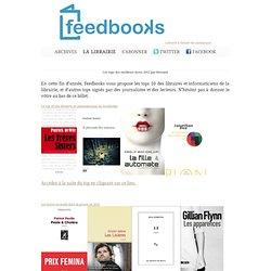 Élaborez le top des meilleurs livres 2012