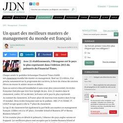 Un quart des meilleurs masters de management du monde est français