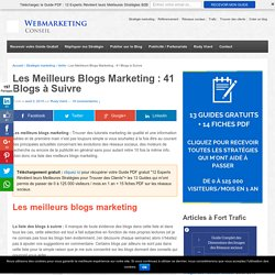 Les 37 meilleurs blogs marketing