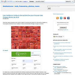 Les meilleurs moteurs de recherche pour trouver des images libres de droit