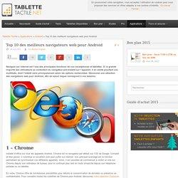Top 10 des meilleurs navigateurs web pour Android