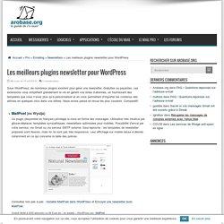 Les meilleurs plugins newsletter pour WordPress