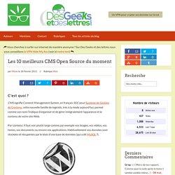 Les 10 meilleurs CMS Open Source du moment