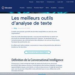 Les meilleurs outils d'analyse de texte