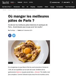 Les meilleurs restos de pâtes de Paris