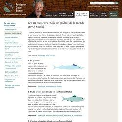 Les 10 meilleurs choix de produit de la mer de David Suzuki