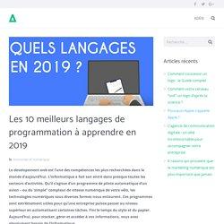 Les 10 meilleurs langages de programmation à apprendre en 2019