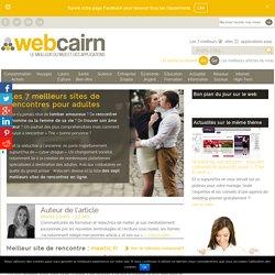 7 meilleurs sites de rencontres pour adultes