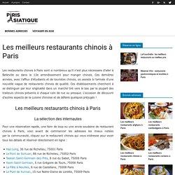 Les meilleurs restaurants chinois à Paris