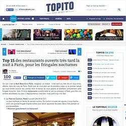 Top 15 meilleurs restaurants ouverts tard la nuit à Paris (après minuit)