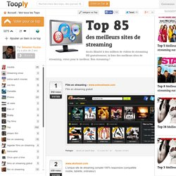 Top 77 des meilleurs sites de streaming, Tooply