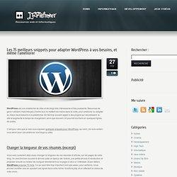 Les 15 meilleurs snippets pour adapter Wordpress à vos besoins, et même l'améliorer