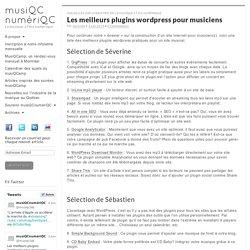 Les meilleurs plugins wordpress pour musiciens