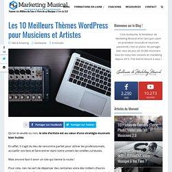 Les 10 Meilleurs Thèmes Wordpress pour Musiciens et Artistes en 2019