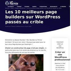 Les 9 meilleurs page builders sur WordPress en 2020 - WPMarmite