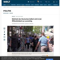 2. Deutsche sehen Meinungsfreiheit in der Öffentlichkeit eingeschränkt