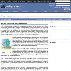 Meirieu : Pédagogie : Les concepts clés